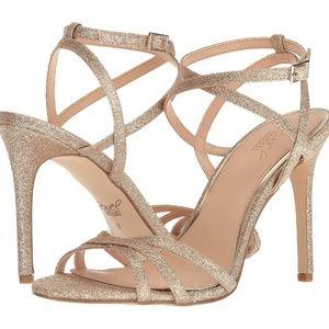 Jewel Badgley Mischka Ambre sandals - gold size 8